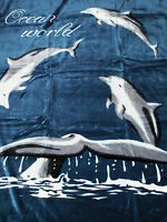 Kuscheldecke Tagesdecke Wohndecke Decke Plaid Delphin - Motiv I 160x200cm