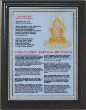 Feng Shui Long Dharani of Avalokiteshvara Obstacle Financial Trouble Plaque