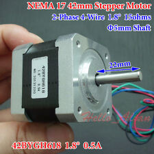 NEMA 17 Hybrid Stepper Motor 2 Phase for 5mm Pulley CNC RepRap Prusa 3D Printer