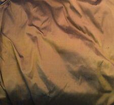 """100% Silk DUPIONI Fabric TOFFEE BROWN & BLACK fat 1/4 18""""x27"""" remnant"""