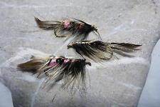 MARK-BORSTENWURM Streamer # 6 Meer-Lachs-Regenbogen-Forelle Saibling Trout 3 St