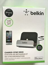 BELKIN Charge and Sync Dock iPhone all models 5 & above, iPod touch nano Boxed