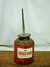 Vintage Advertising MIDLAND PRODUCTS Lead Top OILER CAN Red Thumb Oil Can