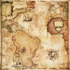 """36""""x36"""" MAP OF DISCOVERY by PAUL PANOSSIAN - MUSEUM VINTAGE WORLD Repro CANVAS"""