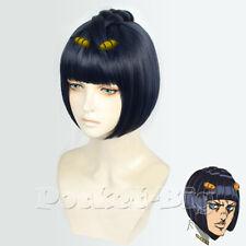 JoJo's Bizarre Adventure Cosplay Wig Bruno Bucciarati Short Anime Synthetic Hair