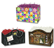 Gift Basket Boxes - Daisies & Squares, Doctor's Bag, Outdoors - 18 boxes New!