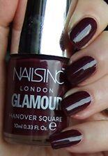 Nails Inc London Glamour Nail Varnish Hanover Square Burgundy Red New