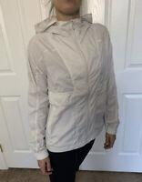 Lululemon Size 6 Hood Lite Jacket Dune DUNE Full Zip DWR Vents Packable