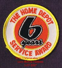 LMH PATCH Badge  HOME DEPOT Customer Merit 6 YEARS SERVICE AWARD Year Curvy 2.5""