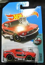 2017 Hot Wheels  Tooned  '68 Mustang   Card #27   Multiples Available