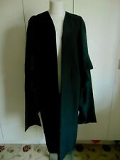 Vintage Black rayon university graduation gown Ravenscroft & Willis Liverpool M