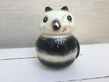 Vintage SYLVAC rare cream and black bumble bee face pot / honey pot 5383
