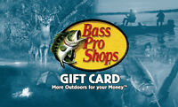 $50 Bass Pro Shops Physical Gift Card - Standard 1st Class Mail Delivery