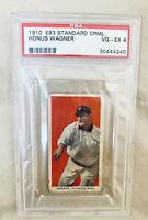1910 E93 Standard Caramel Honus Wagner PSA 4 VG-EX. WELL CENTERED