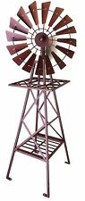 Heavy Duty Windmill Metal Iron Garden Ornament Sculpture Rustic Brown BIG 120 cm