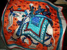 "100% Pure Silk Scarf 100x100cm/CreativeArt Premium *Warm Silk""The Elephant2""*BR"