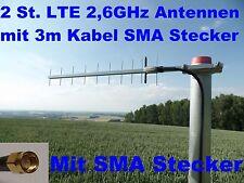 2x LTE Yagi Richtantenne 4G Antenne 2,6 GHz 2600 MHz Ideal für LTE Stadt Netze