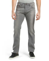 Diesel Men's Grey Cotton Buster Slim Tapered Jeans Casual Pants NWT $178