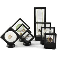 Durable Jewelry Ring Show Case Protect Plastic Floating Display Stand Holder Box