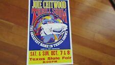 1970 Chitwood original outdoor poster dated thrill show Texas State Fair 14 x 22