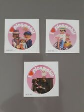 3 Victorian Theme 'I ❤ Playmobil' Stickers - Extremely Rare Collection