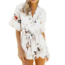 Women Dress Beach Boho Rompers Jumpsuit Holiday Sundress Mini Bodycon Playsuit