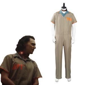 Loki TVA Prison Uniform Cosplay Costume Outfits Halloween Carnival Costume Suit