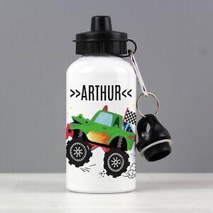 Personalised Kids Monster Truck Drinks Bottle Back To School