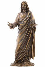 """Jesus With Open Arms Sculpture 12"""" Tall Statue Figurine"""