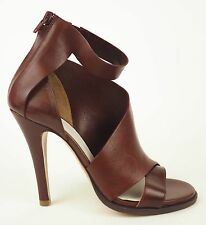 Maison Martin Margiela Rust Brown Leather Strappy Sandals Heels 38.5 8.5 US $870