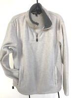 Tek Gear Light Gray Fleece Sweatshirt Half Zip Men's L Excellent Condition