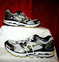 WMS MUZUNO WAVE INSPIRE 7 SZ 9 WHITE/SILVER/YELLOW AIR MESH RUNNING SHOES