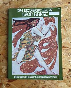 The Decorative Art of Leon Bakst, 1972 Dover Ballet s Russes Jean Cocteau