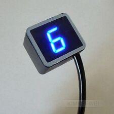 Azul Universal Digital indicador de marcha Para Motocicleta