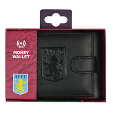 ASTON VILLA FC RFID TECHNOLOGY EMBOSSED COIN LEATHER WALLET PURSE NEW XMAS GIFT