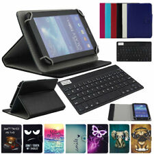"""For ONN 100005206 Surf Tablet 7"""" Universal Leather Case Cover Wireless Keyboard"""