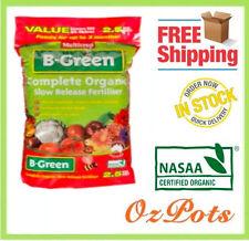 Organic Slow Release Fertiliser - Made in Australia - B-Green 2.5kg