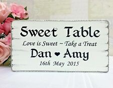 Personalised Wedding Sweet Table Sign Candy Bar Table Shabby Vintage Wedding