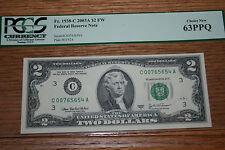 Fr. 1938-C 2003A $2 FW FRN PCGS CHOICE NEW 63PPQ