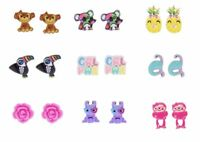 Six Pairs Of Claires's Earrings Pineapple Monkey Koala Hummingbird And More