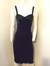 Rare Iconic Vintage Jean Paul Gaultier Purple Stitched Cone Bra Dress
