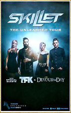 SKILLET Unleashed Tour 2016 Ltd Ed New RARE Poster +FREE Rock/Metal Poster! TFK