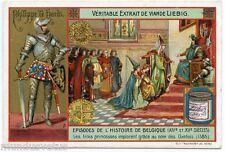 CHROMO. LIEBIG. PHILIPPE LE HARDI . éPISODES HISTOIRE DE BELGIQUE
