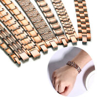 Men Healthy Care Copper Magnetic Therapy Bracelet Bio Energy Power Healing Chain