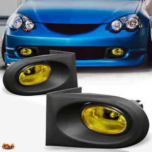 For 02-04 Acura RSX DC5 Amber Lens Driving Bumper Fog Light/Lamp W/Switch+Wire