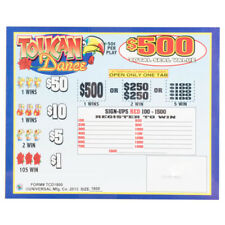 """Toucan Dance"" 5 Window Pull Tab 1800 Tickets Payout $675"