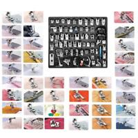 32/62pcs Domestic Sewing Machine Presser Foot Feet Set for Brother Janome Singer