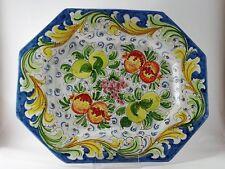 Centrotavola porta frutta piatto da appendere in ceramica di Caltagirone L.40 cm
