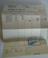 Vintage Hotel Receipt The Pick-Lee House Washington DC Dated April 1962 Travel