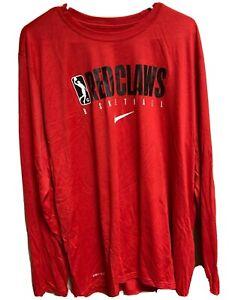 NIKE NBA G Red Claws Maine Basketball  Dri-Fit Long Sleeve Shirt XLT Men $40 NEW